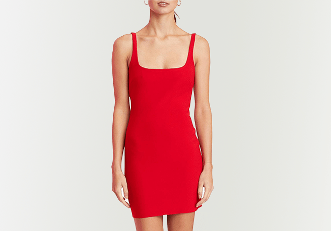 BEC AND BRIDGE Red Mini Dress